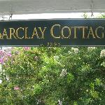 barclay cottage sign