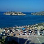 A view of Spinalonga Island from the hotel
