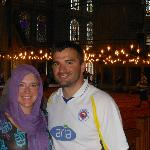 Inside the Blue Mosque (during the 'I Have One Day in Istanbul' Tour)