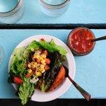 Starters: Salad and Gazpacho