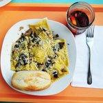 Portobello Ravioli and Sangria