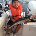 both my sons caught salmon