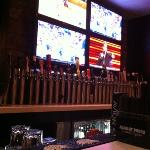 the bar - TVs and Taps...