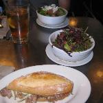 hot pork and salads