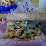 "6"" crawfish poboy,scruffys special"