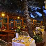Enjoy your dinner at the Flame Tree Restaurant Terrace in the evenings