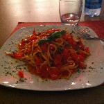 Spaghetti alla Chitarra ai Pomodorini freschi e Basilico