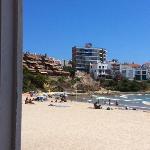 Vista de la playa de Altafulla desde la ventana