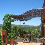 terrasse avec vue panoramique sur la campagne