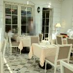 The gorgeous hotel dining area