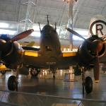 one of the planes inside one of the hangars