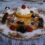 french toast l'orange with grand marnier and country sausage