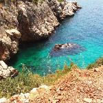 View from the steep slope on the way into kalkan