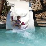 The slide was fun for all ages