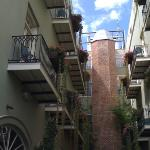 our balcony, on the left, as seen from the street