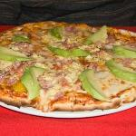 Avocado and Ham Pizza