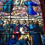 Stained glass depicting Hermano Pedro