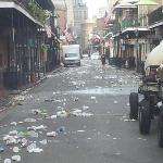 Bourbon St. at 6 am. Amazing to watch the clean up.