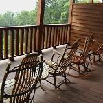 Top floor balcony seating/open-air viewing.