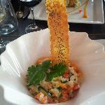 Risotto crémeux crevettes/légumes/parmesn