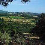 Vista su San Gimignano da Colle Val d'Elsa