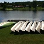 Resort canoes.