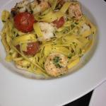 Fetuccini Alfredo with Shrimp