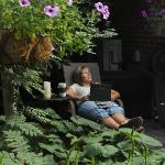 Serenity in the garden at Le Terra Nostra