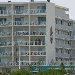 Vue de notre hôtel de la plage