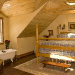 Upstairs in Juniper Ridge - king bed in master suite