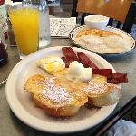 French Toast Bacon Eggs Biscuits and Gravy Hashbrowns and Fresh Squeezed Orange Juice!