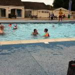 """the """"heated"""" outdoor pool"""