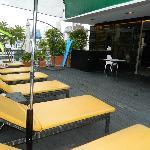 Rooftop pool bar