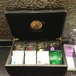 Tea selection in room