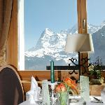 Eiger Saal, dine with best alpine view
