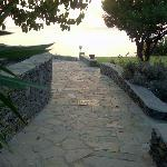 road to the pool