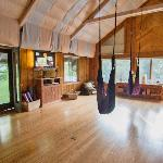 The Yoga studio w swings for private and group lessons