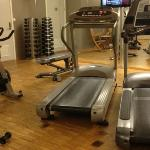 One view of the fitness room