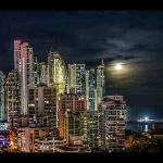 panama city night view from hotel area