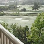 View of golf course from room 414