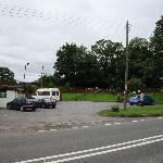Part of car park plus play area