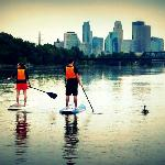 Minneapolis Paddleboard trail takes you right into the heart of Minneapolis!