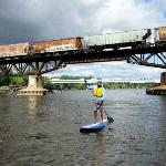 Our Minneapolis Route takes paddlers underneath trains and near Blue Heron nesting grounds!
