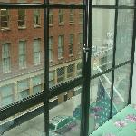 The view looking up cobblestoned Crosby Street from our room.
