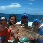 Red grouper caught while fishing for yellowtails
