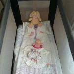 Cot which was presented like this every day by the cleaning staff ;-)
