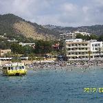 Beach of nearby Pegera