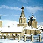 Вид на собор зимой