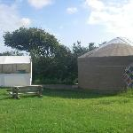 Yurt and kitchen/dining tent