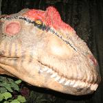 The head of Big Al, from the BBC's Walking With Dinosaurs